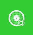electric bike wheel service icon vector image vector image