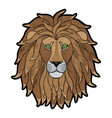 embroidery lion head patch vector image