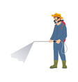 farmer spraying chemicals isolated cartoon icon vector image vector image