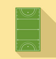 field hockey arena icon flat style vector image vector image