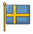 flag of sweden icon cartoon style vector image vector image