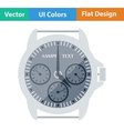 Flat design icon of Watches vector image vector image