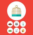 flat icon animal set of nutrition box seaweed vector image vector image