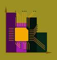 flat icon on stylish background nanotechnology vector image
