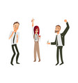 flat office workers people dancing vector image vector image