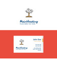 flat tree logo and visiting card template vector image