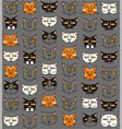 funny cats muzzles vector image vector image