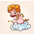Funny Cupid strikes vector image