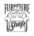 furniture shop logotype vector image vector image