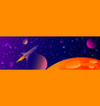 futuristic space background with bright light vector image vector image