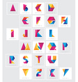 Geometric Letters vector image vector image