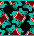 ghost seamless pattern terrible howling wraith vector image vector image