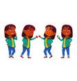 girl kid poses set indian hindu asian vector image vector image