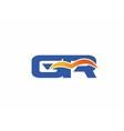 GR letter logo vector image vector image