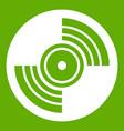 gramophone vinyl lp record icon green vector image vector image