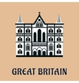 Great Britain landmark flat icon vector image vector image