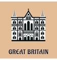 Great Britain landmark flat icon vector image