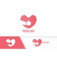 heart and like logo combination love vector image