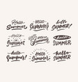 hello summer vintage roughen hand lettering vector image vector image