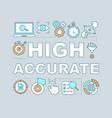 high accurate word concepts banner vector image vector image