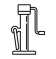 hoist jack-screw icon outline style vector image vector image