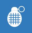 icon military frag grenade vector image vector image