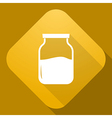 icon of Jar with a long shadow vector image vector image