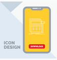 internet page web webpage wireframe line icon in vector image vector image