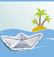 island with palm trees in ocean vector image