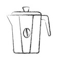 kettle coffee isolated icon vector image