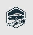 logo design template for car vector image vector image