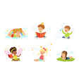 lovely children read and dream vector image