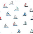 marine seamless pattern cartoon boats vector image vector image