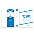modern blue arrow stack business brochure design vector image