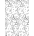 monochrome floral seamless pattern with the words vector image vector image