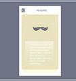 mustache mobile vertical banner design design vector image
