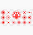 pain pointings set vector image vector image
