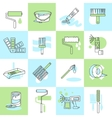 Painting icons flat line vector image vector image