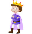 prince in blue costume vector image vector image