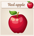 red apple fruit cartoon icon series of vector image
