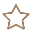 Rope Creative Ornamental Star Frame vector image vector image