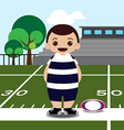 rugby field player vector image