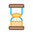 sand hourglass icon outline vector image