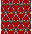 Seamless heart pattern4 vector image vector image