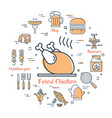 set of grilled food during picnic vector image vector image