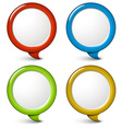 Set of round simple 3d bubbles vector image vector image