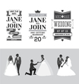 set wedding design elements vector image vector image