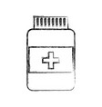 sketch draw pill bottle vector image vector image