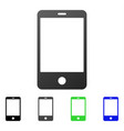 smartphone flat gradient icon vector image vector image