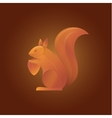 squirrel in shades orange vector image vector image